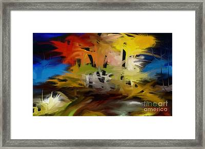 Framed Print featuring the painting Crazy Nature by Rushan Ruzaick