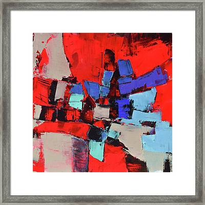 Crazy Red Framed Print