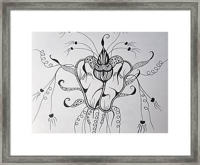 Crazy  Framed Print by Rosita Larsson