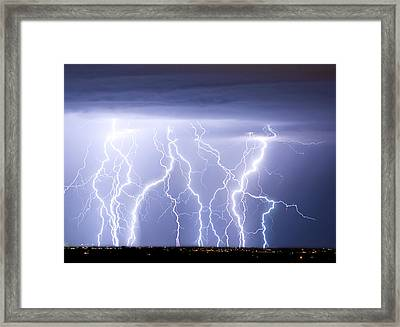 Crazy Skies Framed Print