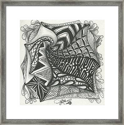Crazy Spiral Framed Print by Jan Steinle
