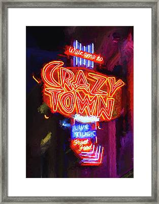 Crazy Town - Impressionistic Framed Print by Stephen Stookey