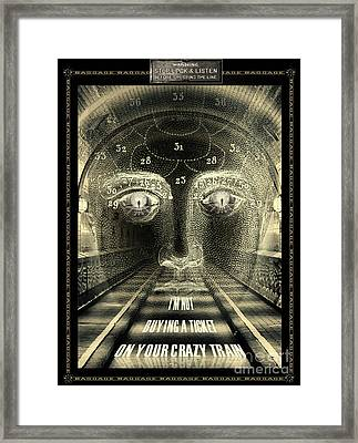 Crazy Train Framed Print