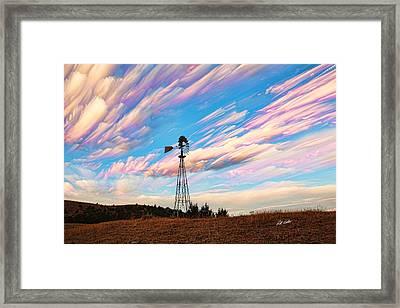 Crazy Wild Windmill Framed Print