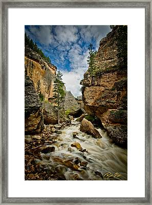 Crazy Woman Canyon Framed Print by Rikk Flohr