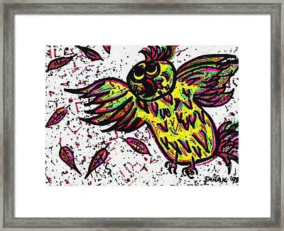Crazybird Framed Print by Sarah Loft