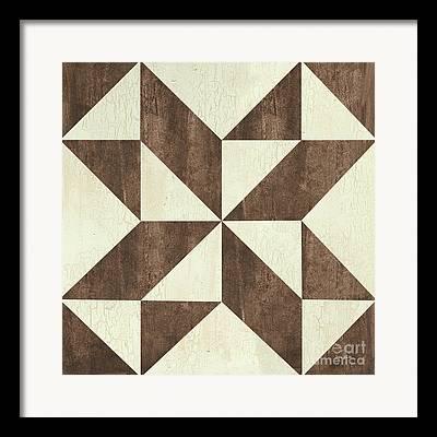 Geometric Style Paintings Framed Prints
