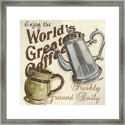 Cream Coffee 1 Framed Print by Debbie DeWitt