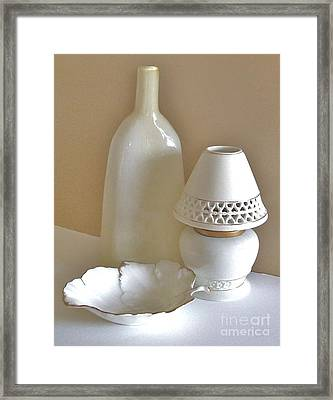 Cream Light Decor Framed Print