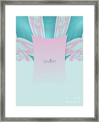 Cream Mint Framed Print