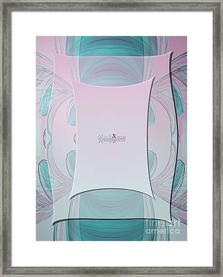Cream Mint Medi Framed Print