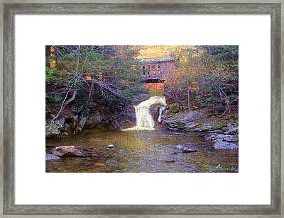 Creamery Bridge Framed Print by John Selmer Sr