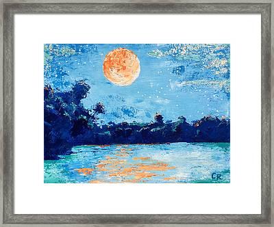 Creamsicle Moon Framed Print
