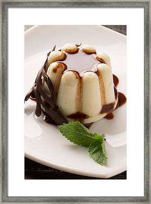 Creamy Pudding With Chocolate Framed Print by Vadim Goodwill