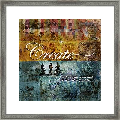 Create Framed Print by Evie Cook