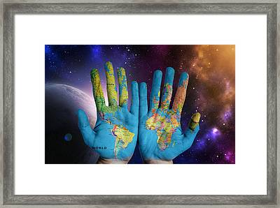 Created By God's Own Hands Framed Print