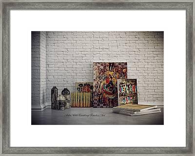 Creating Timeless Art Framed Print by Asha Aditi Ruparelia