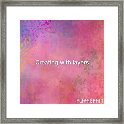 Creating With Layers On #ipad ..this Is Framed Print