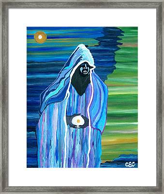 Framed Print featuring the painting Creation by Carolyn Cable