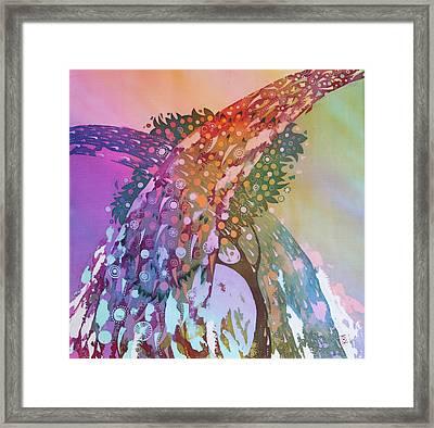 Creation Of An Orange Tree Framed Print by Kate Krivoshey
