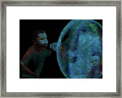 Creation Of The Bubble Framed Print