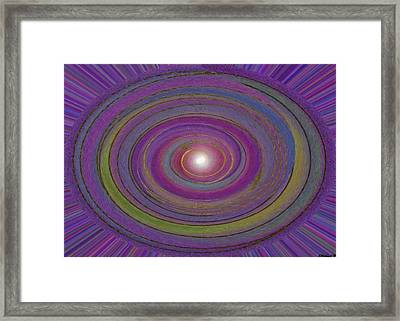 Creation Of The World Framed Print by Sher Magins