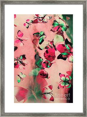 Creative Butterfly Background Framed Print by Jorgo Photography - Wall Art Gallery