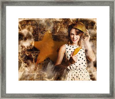 Creative Cooking Pin-up Framed Print