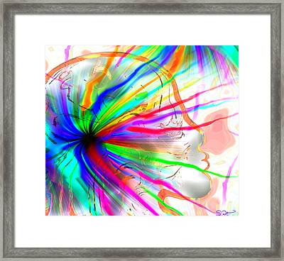 Creative Energy From Within Framed Print by Abstract Angel Artist Stephen K