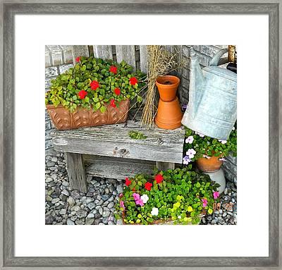 Creative Garden Setting Framed Print