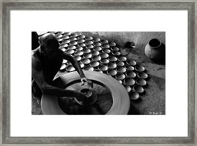 Creative Hands Framed Print by Balasubramanyam TR