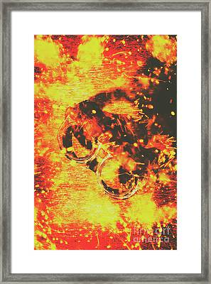Creative Industrial Flames Framed Print
