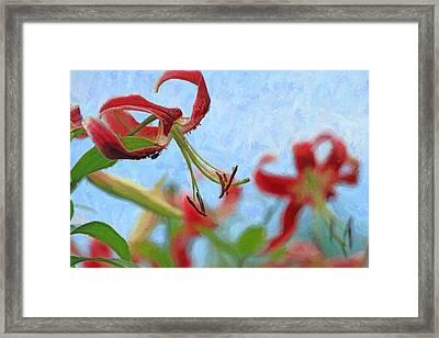 Creative Pendant Flower Framed Print by Geraldine Scull