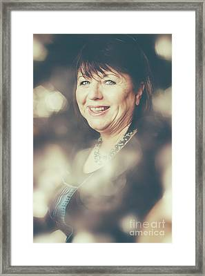 Creative Portrait Of A Middle-aged Business Woman Framed Print by Jorgo Photography - Wall Art Gallery