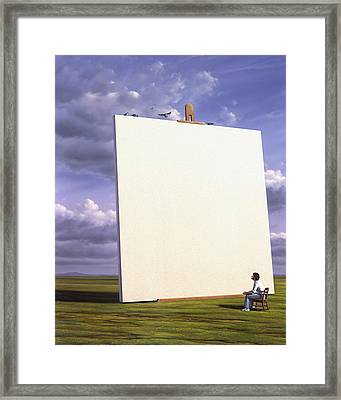 Creative Problems Framed Print