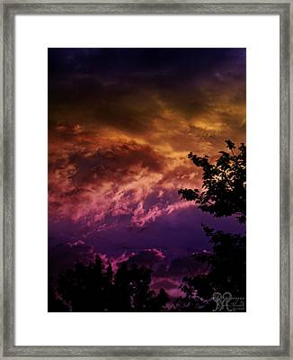 Framed Print featuring the photograph Creative Sunset by Karen Musick
