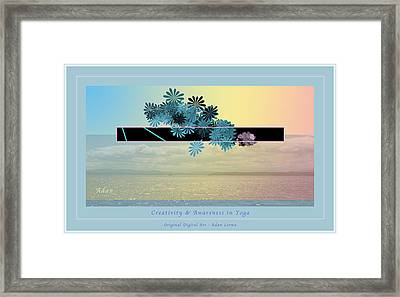Framed Print featuring the photograph Creativity And Awareness In Yoga by Felipe Adan Lerma