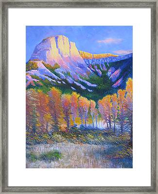 Creator Mountain Framed Print by Gregg Caudell