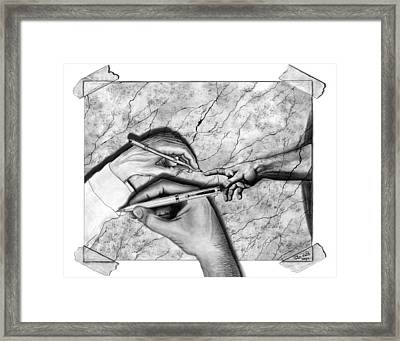 Creators Hand At Work Framed Print by Peter Piatt