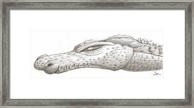 Creature Eyes -2 Framed Print