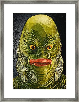 Creature From The Black Lagoon Framed Print by Taylan Apukovska