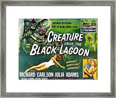 Creature From The Black Lagoon, Upper Framed Print