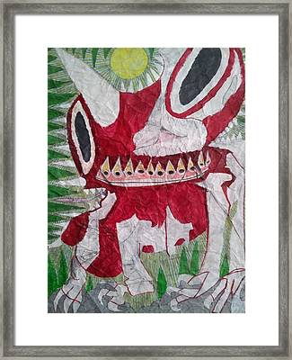 Creature Framed Print by William Douglas