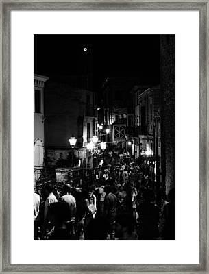 Crecchio At Night - Italy  Framed Print by Andrea Mazzocchetti