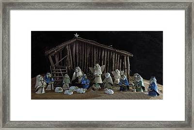 Creche Sraight On View Framed Print by Nancy Griswold