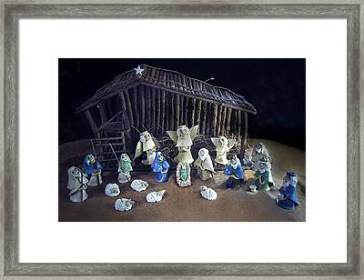 Creche Top View  Framed Print by Nancy Griswold
