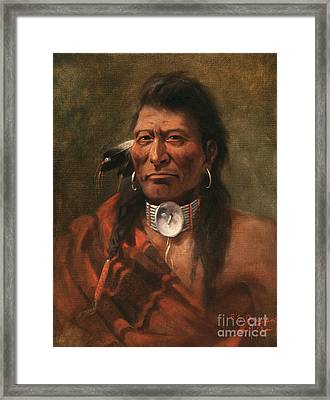 Cree Chief Framed Print by Edgar S Paxson