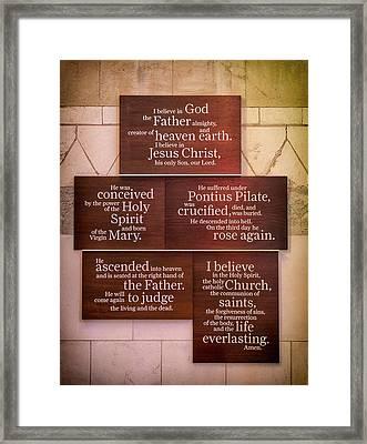 Creed Framed Print