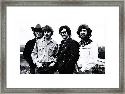 Creedence Clearwater Revival Promotional Photo. Framed Print