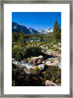Creek At Heart Lake Framed Print